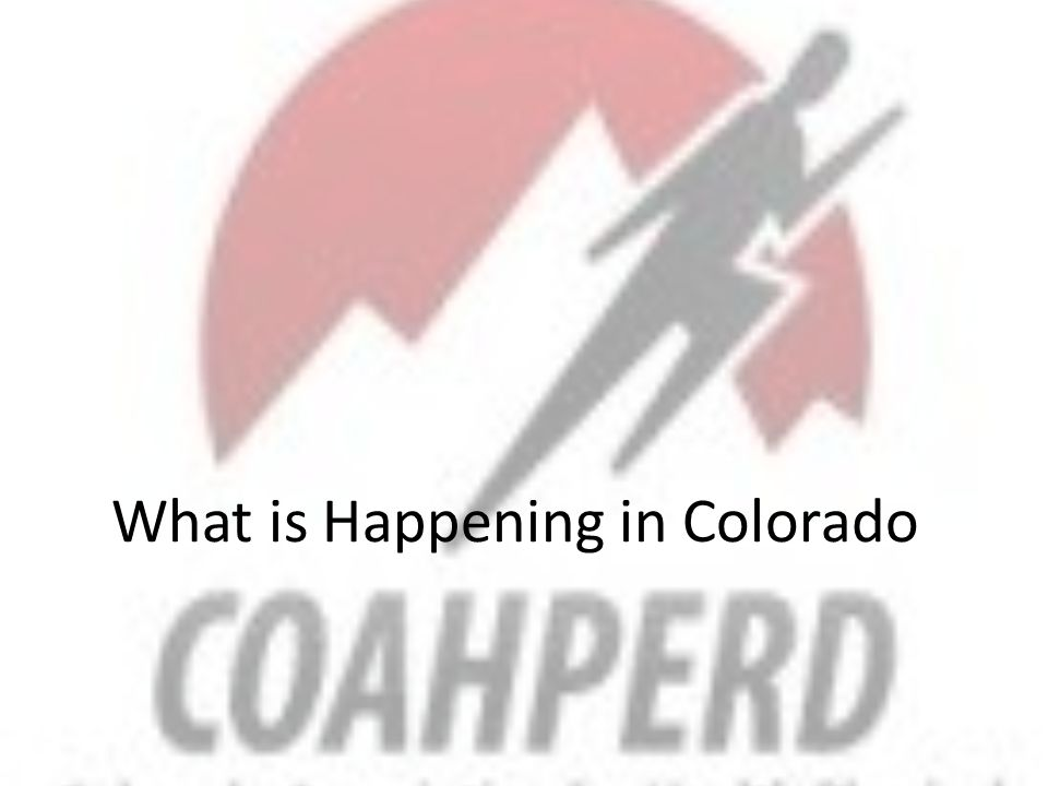 What is Happening in Colorado