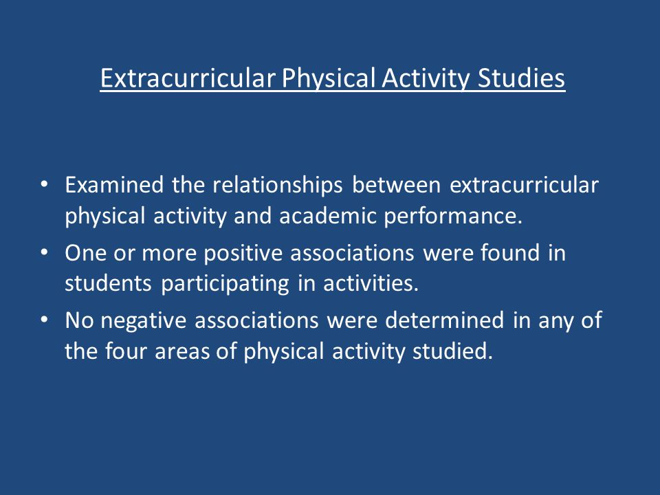 Implications for Change.-Physical activity improves academic achievement.