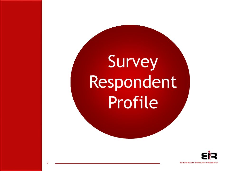 Southeastern Institute of Research 7 Survey Respondent Profile