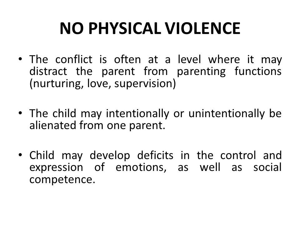 No physical violence Chronic exposure can have a cumulative effect on physiological and neuroendocrine regulation.