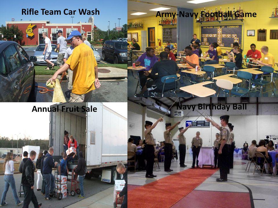 Car Wash Army Navy Football Game Annual NJROTC Fruit Sale Navy Birthday Ball Annual Fruit Sale Army-Navy Football Game Navy Birthday Ball Rifle Team C