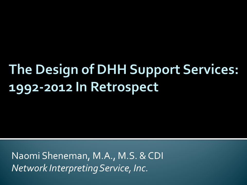 Naomi Sheneman, M.A., M.S. & CDI Network Interpreting Service, Inc.