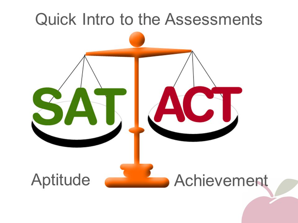 Quick Intro to the Assessments Aptitude Achievement