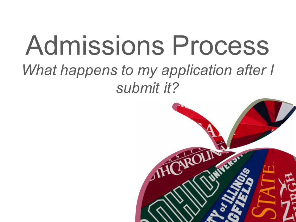 Admissions Process What happens to my application after I submit it?