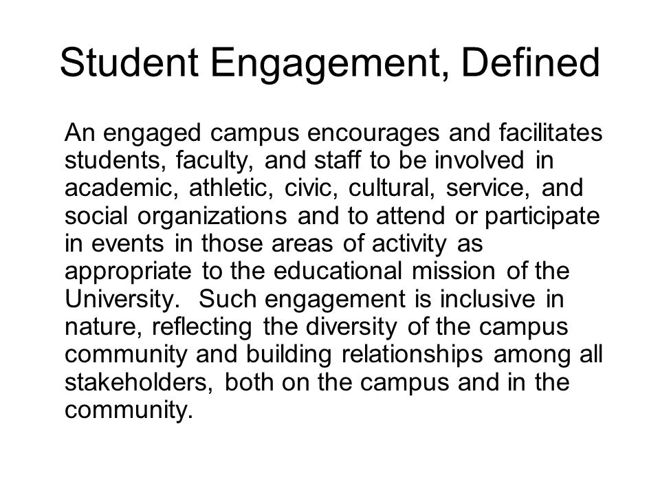 Some Data About Student Engagement at Ferris State University On the Big Rapids Campus