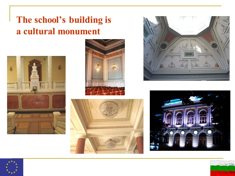 The school's building is a cultural monument