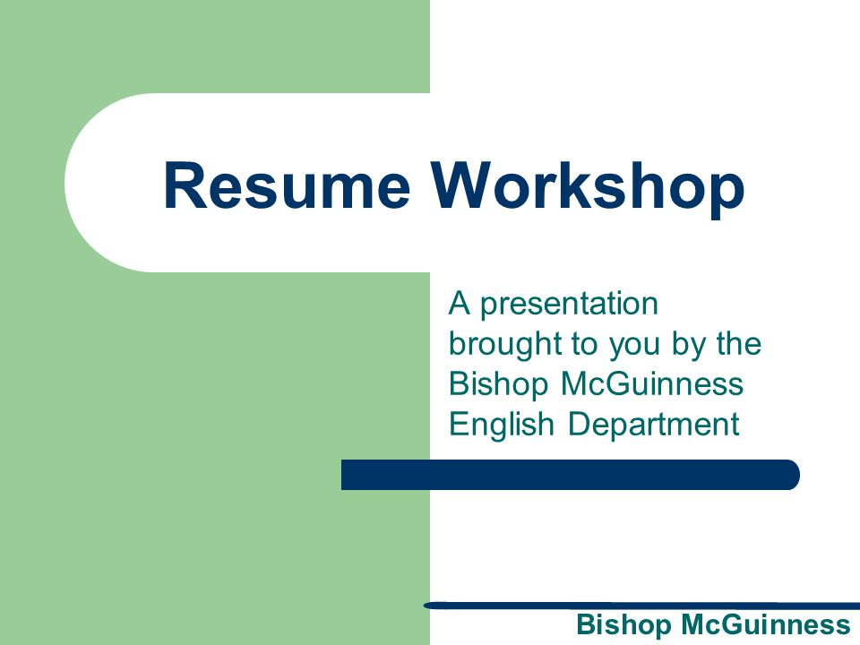 Bishop McGuinness Summary of Qualifications Statement This statement can replace or be used in addition to the objective statement.
