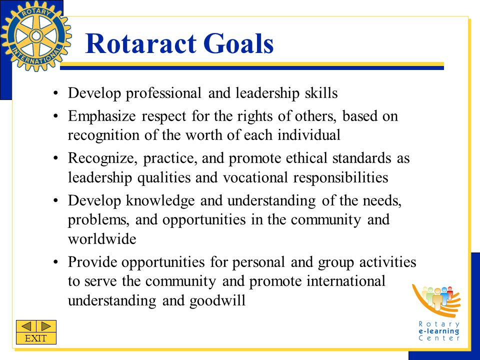 District Structure District Rotaract chairs are appointed to assist Rotary clubs as they administer, promote, publicize and oversee the activities of Rotaract clubs.