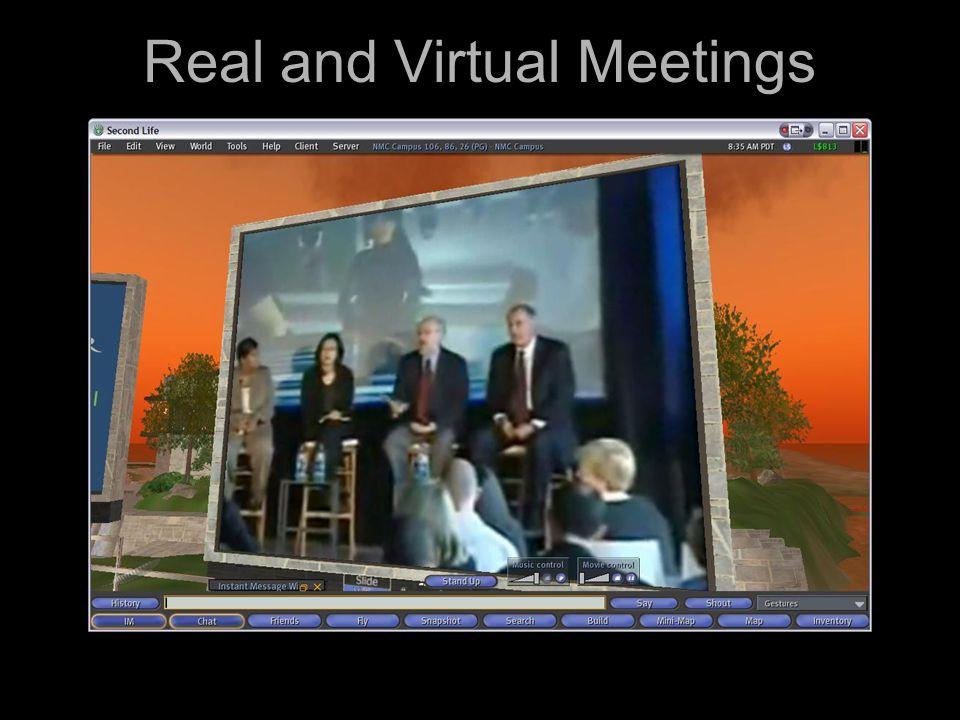 Real and Virtual Meetings