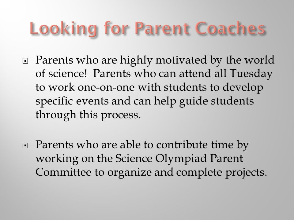  Parents who are highly motivated by the world of science.