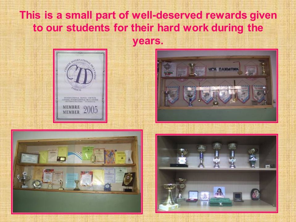This is a small part of well-deserved rewards given to our students for their hard work during the years.