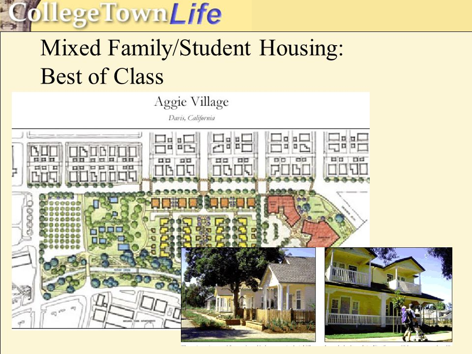 Mixed Family/Student Housing: Best of Class