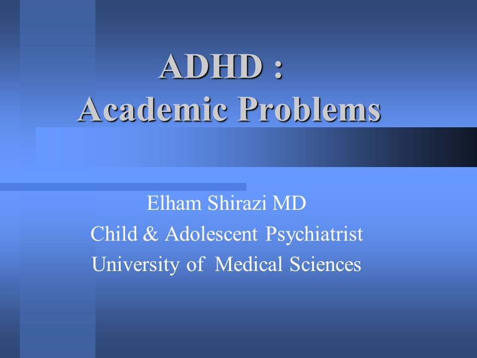 Have a physical exam Have a physical exam 1/3 - 1/2 of ADHD :chronic health problems (recurrent RTI, allergies, asthma,…) sinus drainage & ENT infections : feel nauseated each morning over the counter drugs, antihistamines, decongestants,…