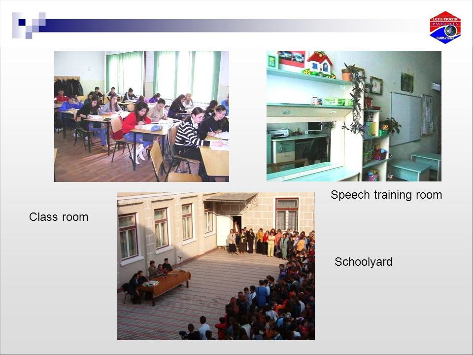 Speech training room Schoolyard Class room