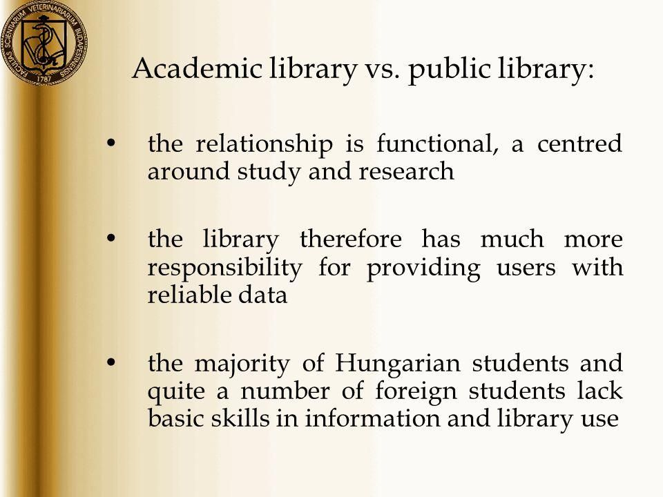 Academic library vs.