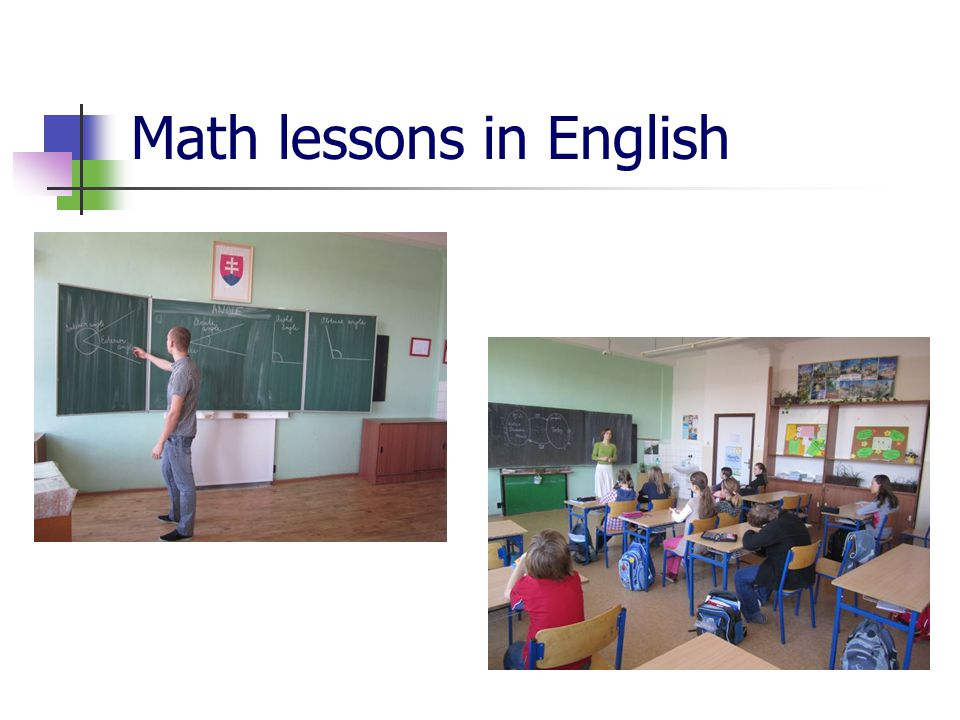 Math lessons in English