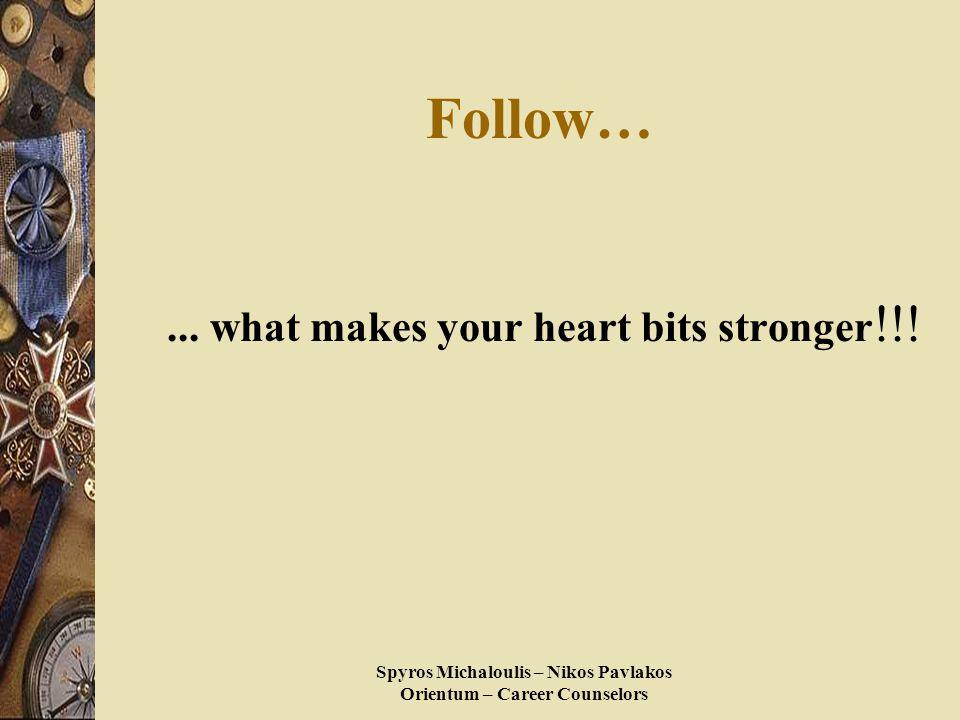 Spyros Michaloulis – Nikos Pavlakos Orientum – Career Counselors Follow…...