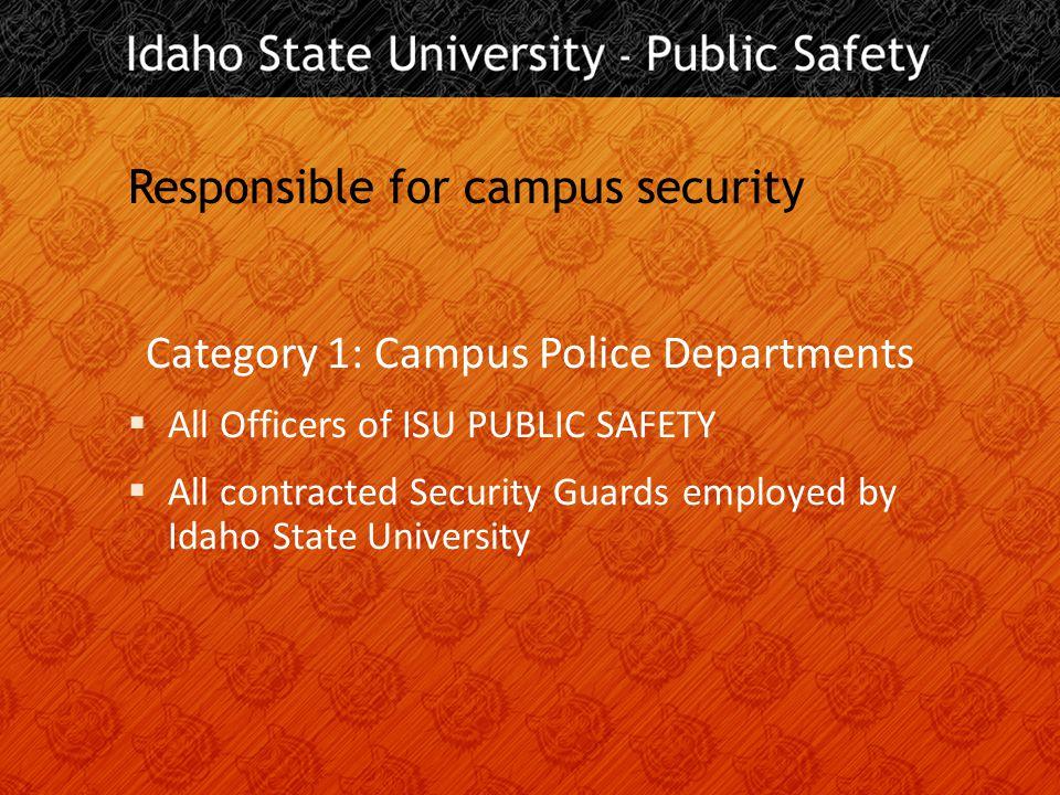 Help is at hand… ISU PUBLIC SAFETY 208-282-2515 www.isu.edu/pubsafe