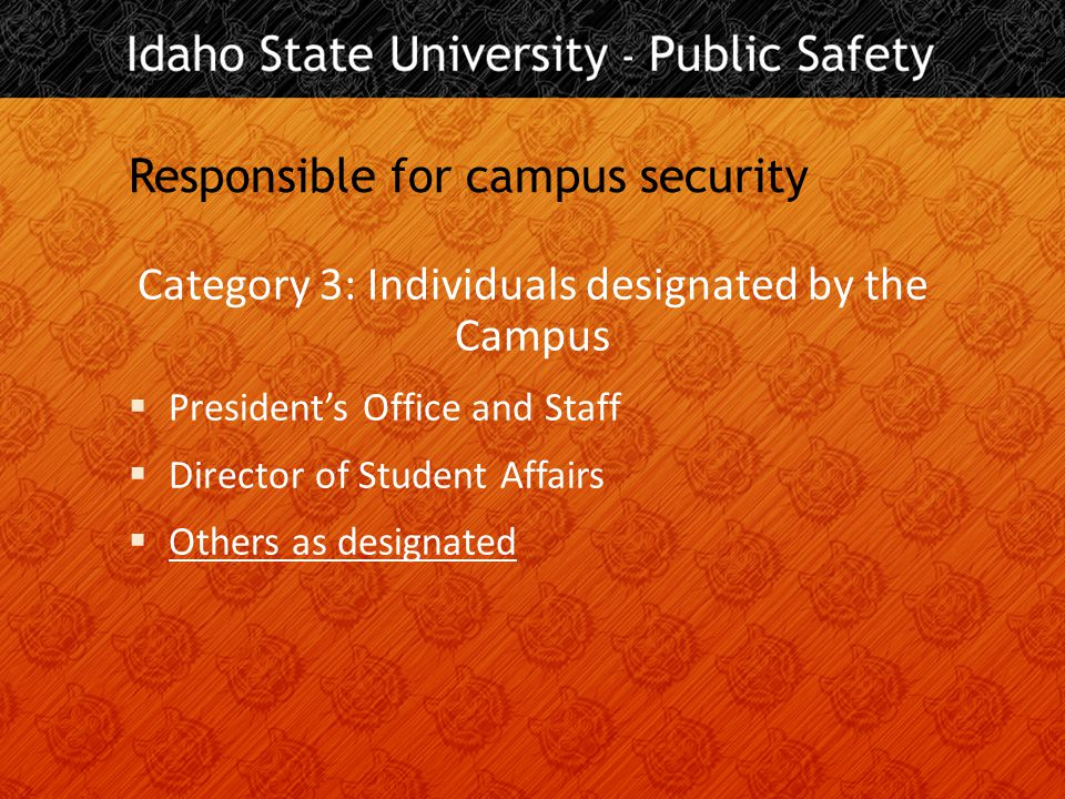 Location, location, location You must report if it occurred  On campus  On campus, in residence halls  On public property adjacent to campus  On non-campus property owned or controlled by the University or a recognized student organization