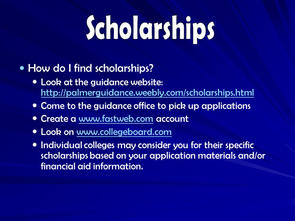 How do I find scholarships.