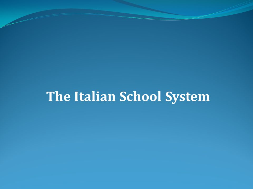 In Italy, the Constitution considers the Educational System as a right for all the people.