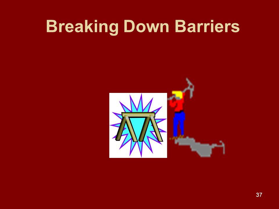37 Breaking Down Barriers