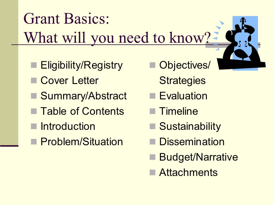 Grant Basics: What will you need to know.