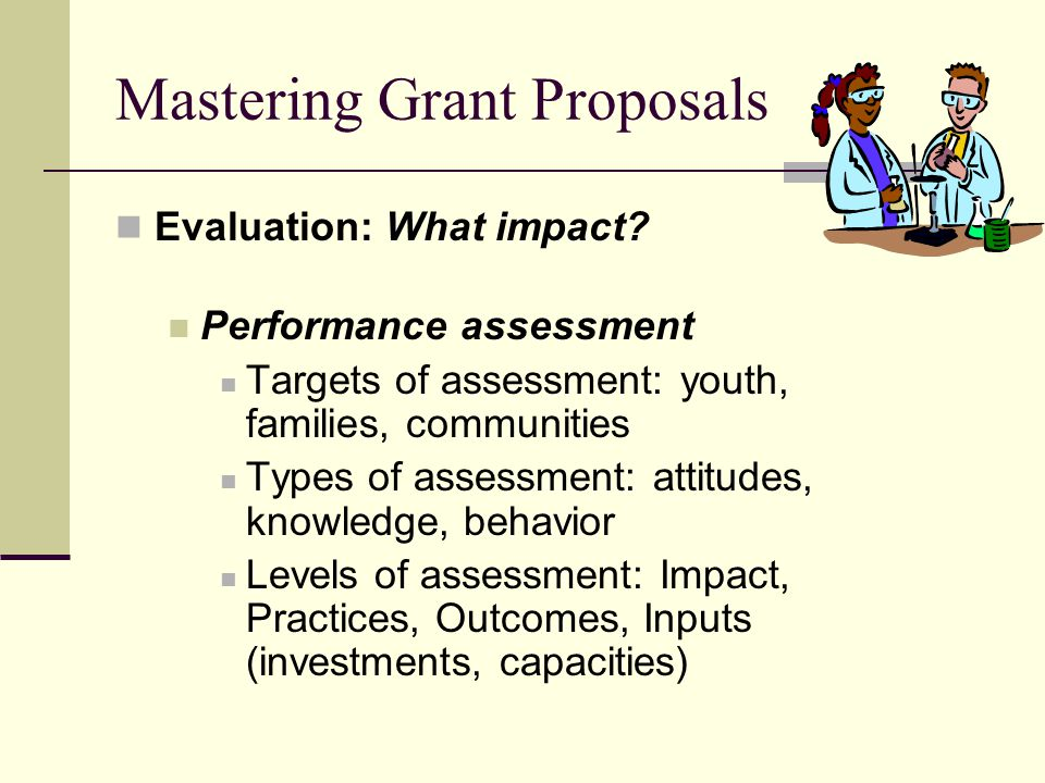 Mastering Grant Proposals Evaluation: What impact.