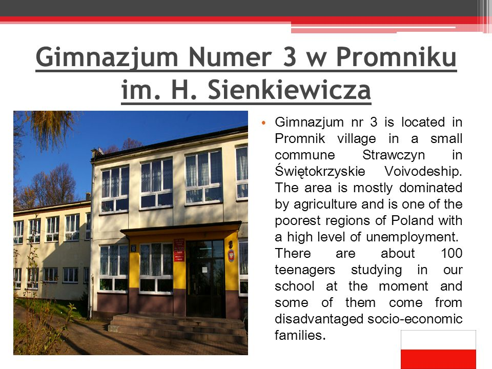 Gimnazjum Numer 3 w Promniku im. H.
