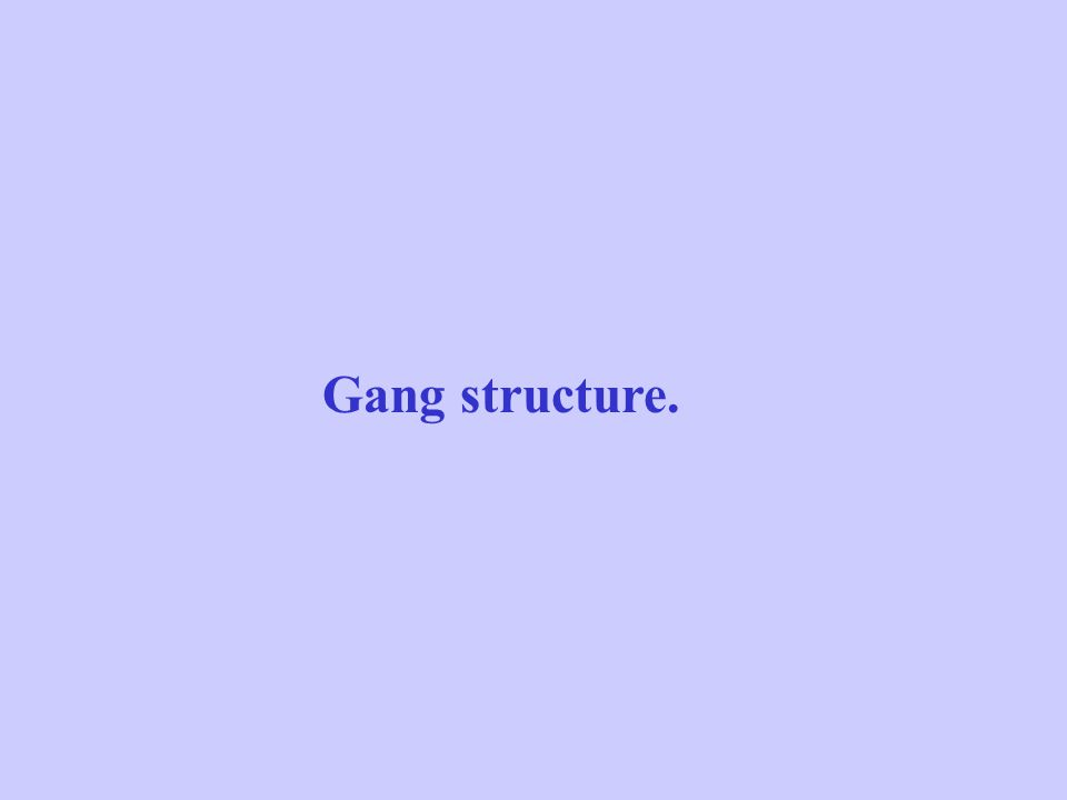 Gang structure.