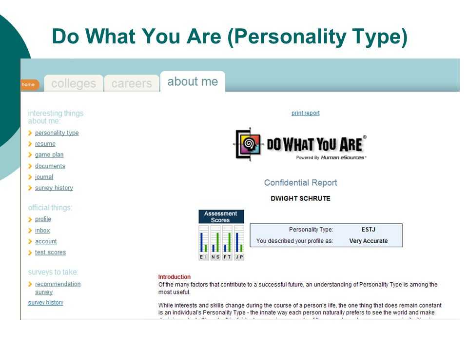 Do What You Are (Personality Type)