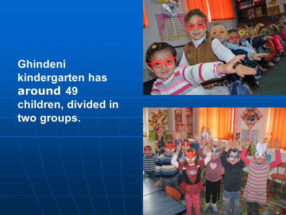 Ghindeni kindergarten has around 49 children, divided in two groups.