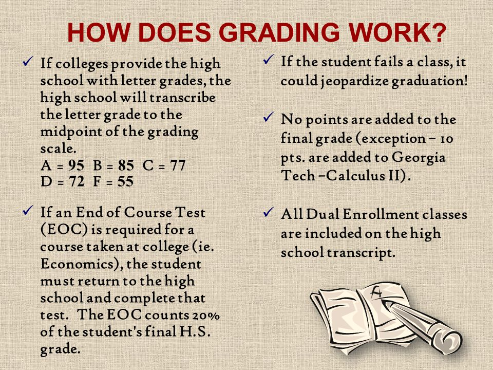 HOW DOES GRADING WORK.