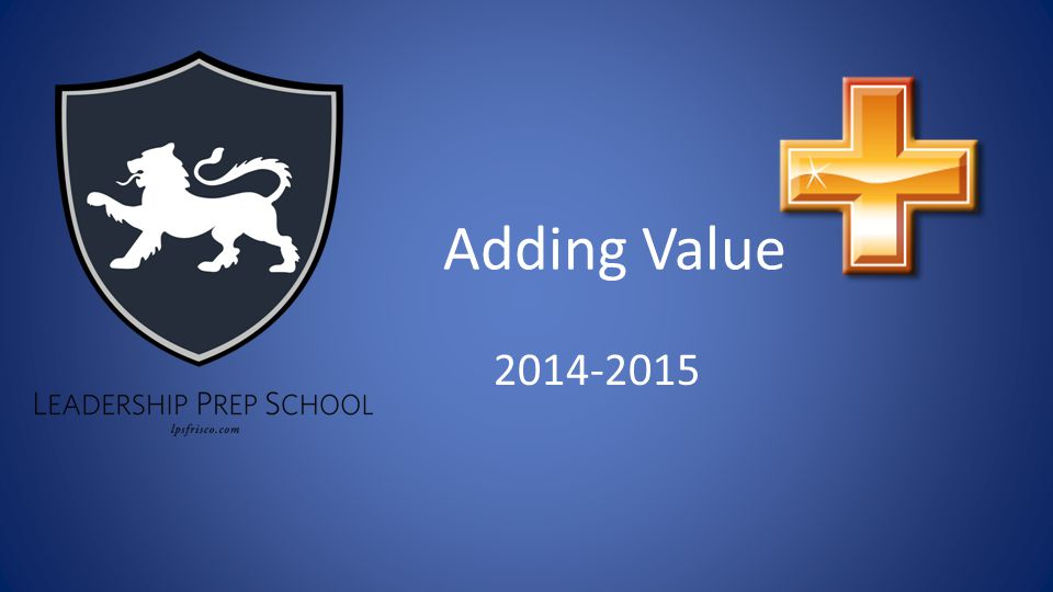 Adding Value 2014-2015