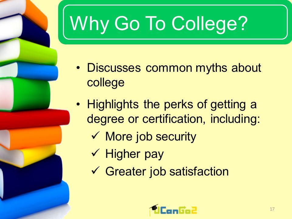 UCanGo2 Why Go To College.
