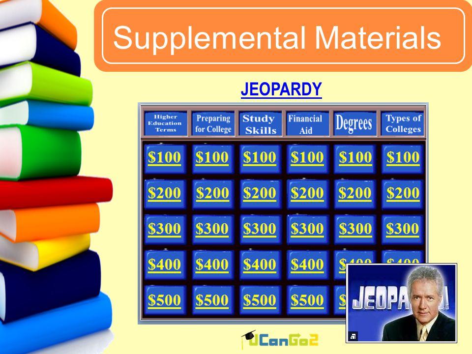 UCanGo2 Supplemental Materials 61 JEOPARDY