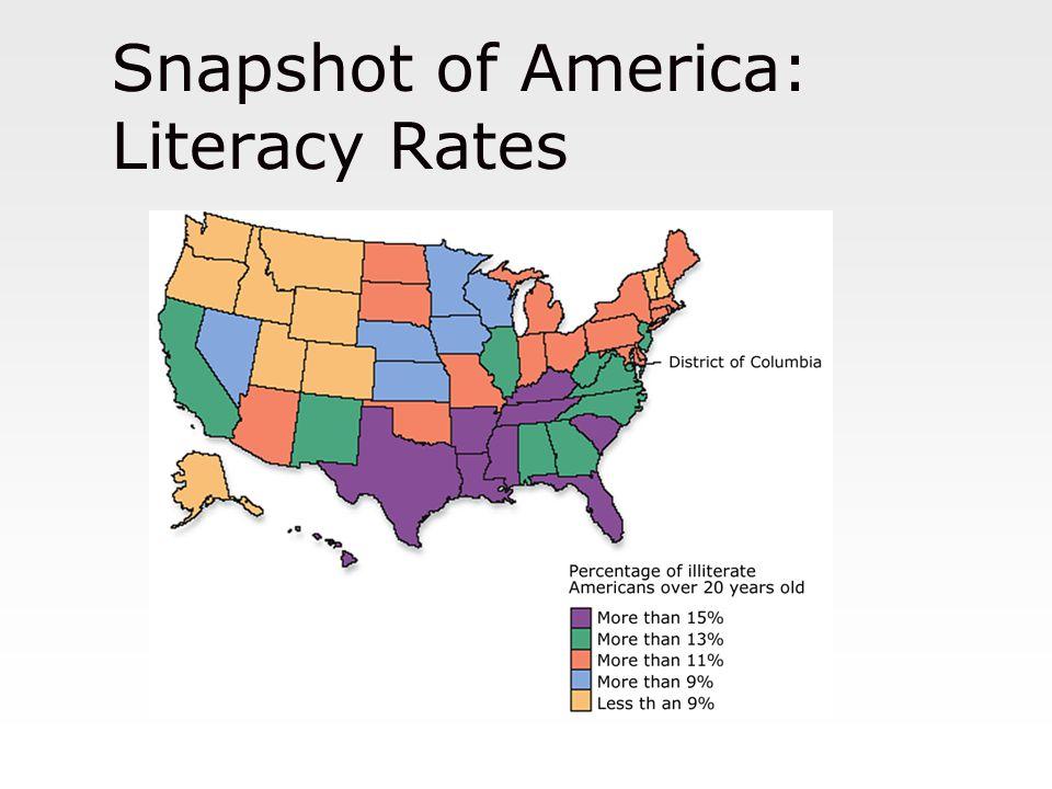 Snapshot of America: Literacy Rates