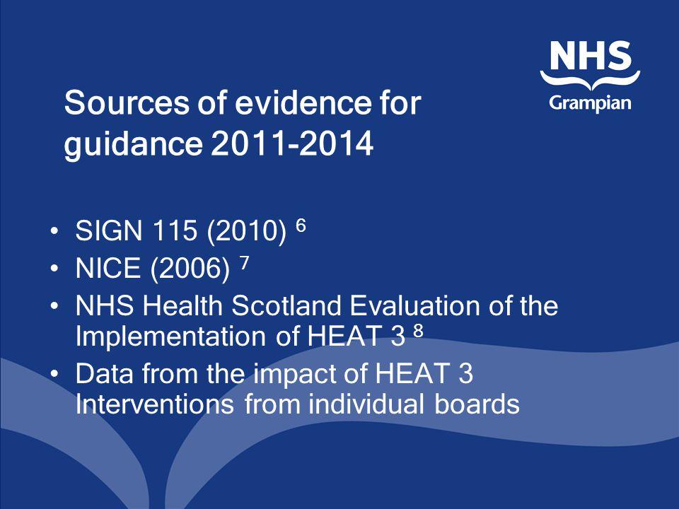 8 NHS Health Scotland H3 evaluation (2010).