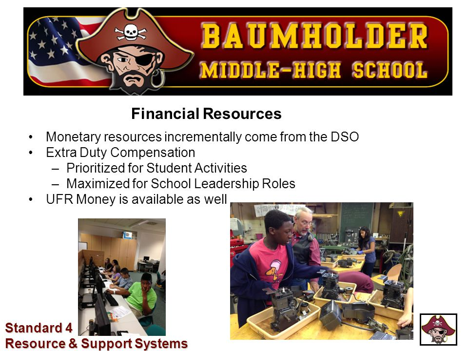 Financial Resources Monetary resources incrementally come from the DSO Extra Duty Compensation –Prioritized for Student Activities –Maximized for Scho
