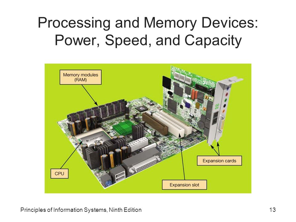 Processing and Memory Devices: Power, Speed, and Capacity Principles of Information Systems, Ninth Edition13