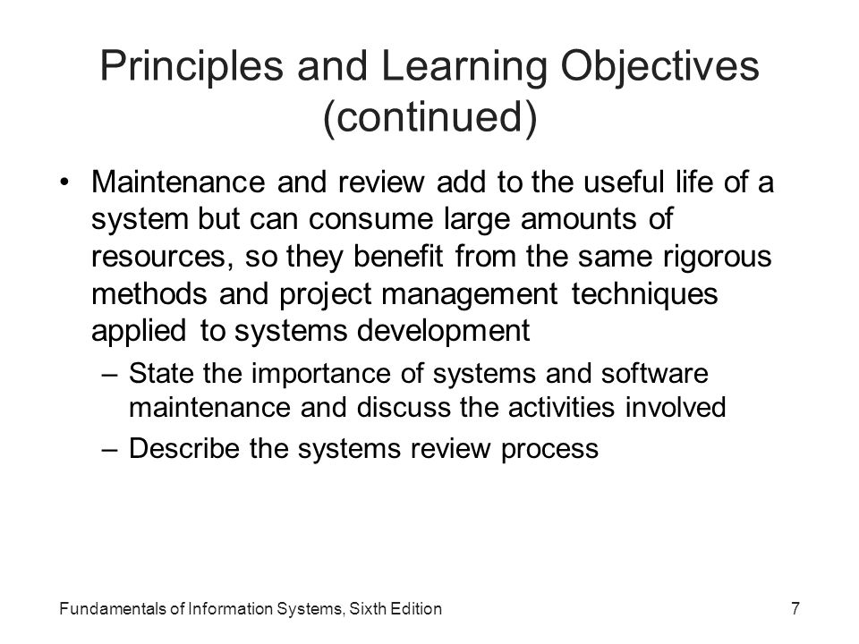 Why Learn About Systems Development.