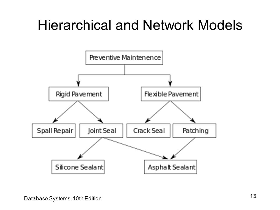13 Hierarchical and Network Models Database Systems, 10th Edition