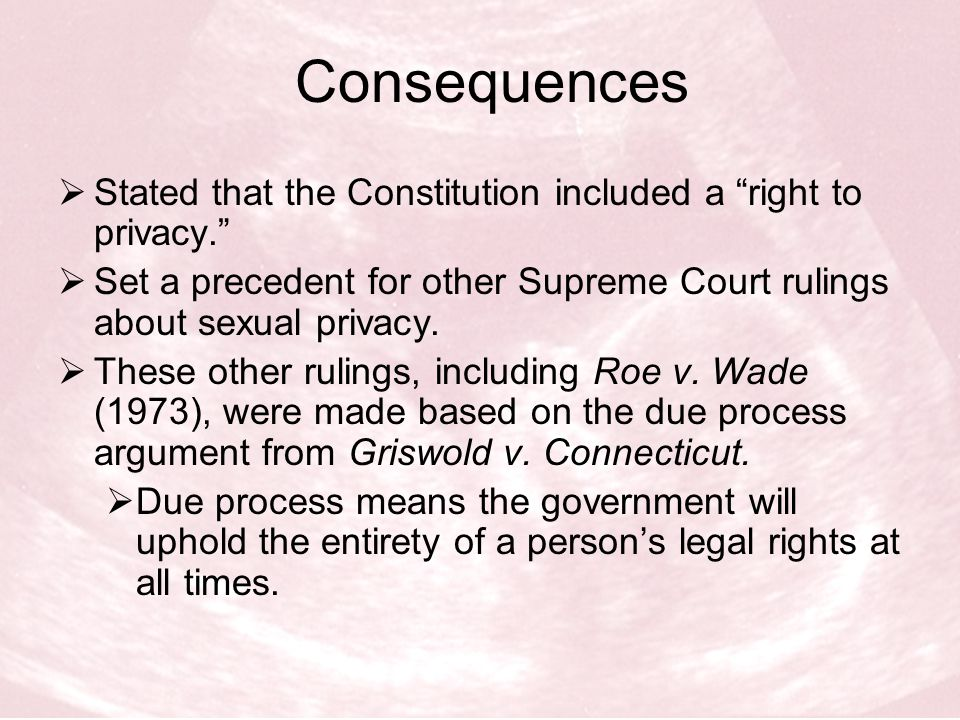 What each side says…  Planned Parenthood's take on Griswold v.