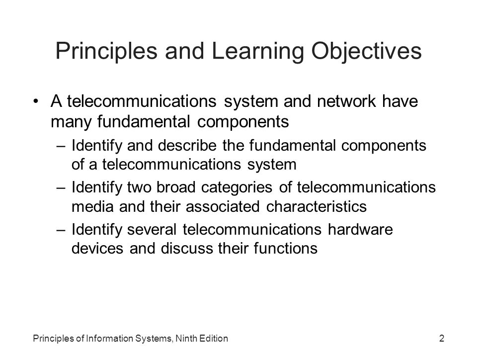 Principles of Information Systems, Ninth Edition23 Network Types (continued)