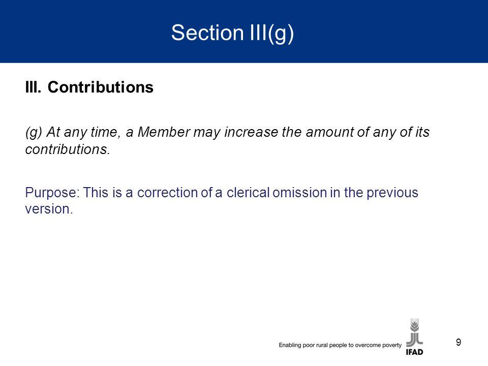 Section III(g) III.