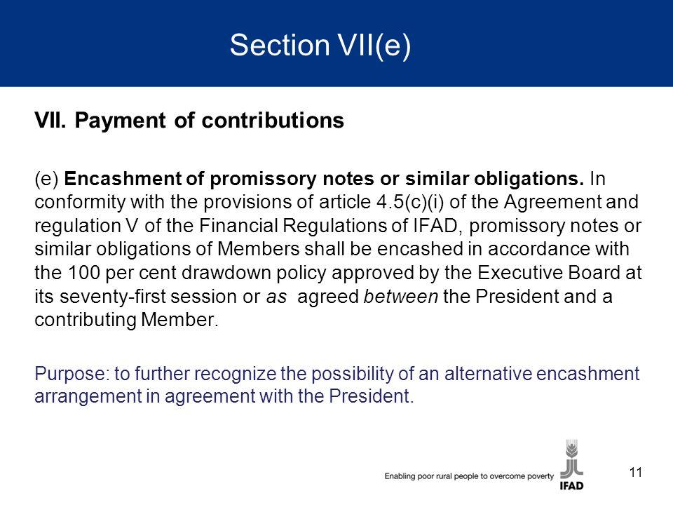Section VII(e) VII.