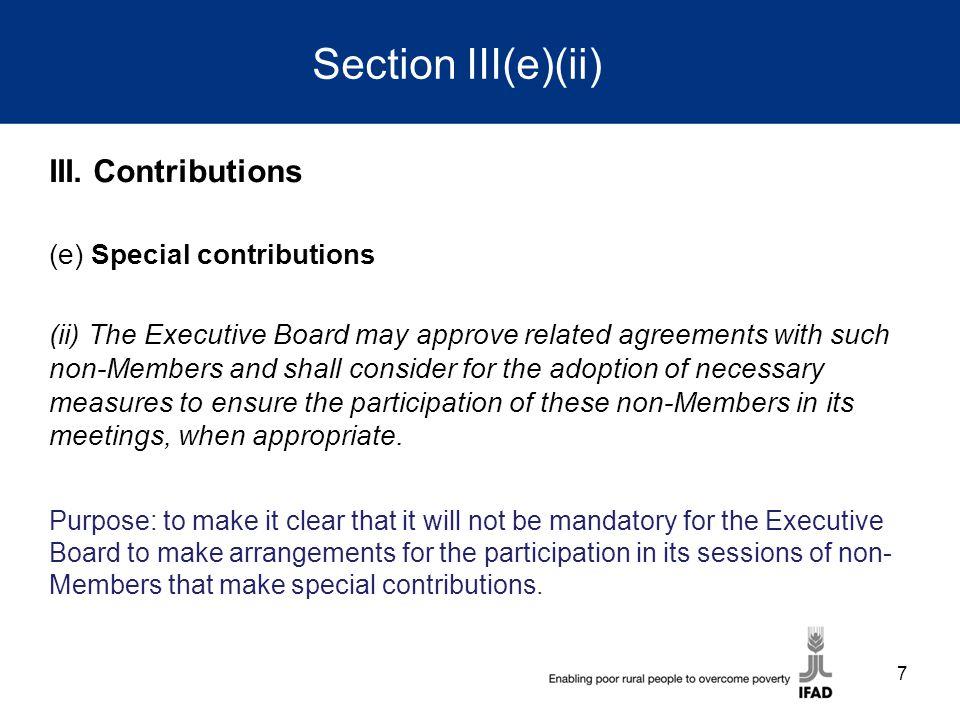 Section III(e)(ii) III.
