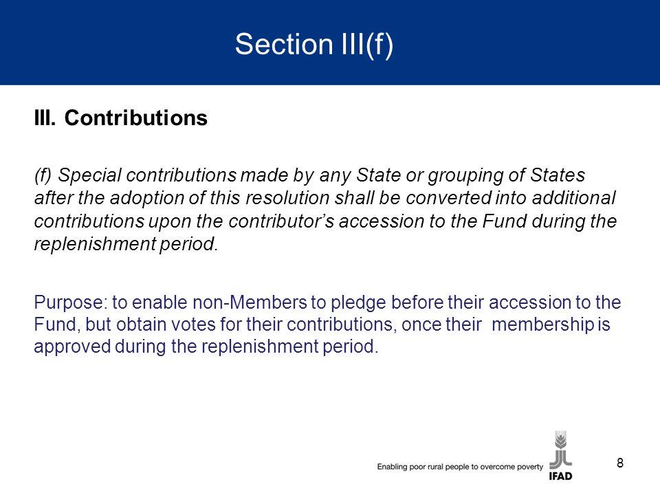 Section III(f) III.