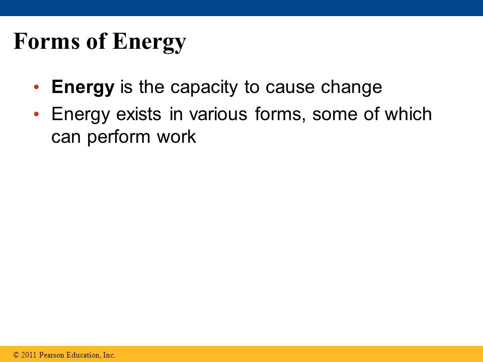 Figure 8.5a More free energy (higher G) Less stable Greater work capacity In a spontaneous change The free energy of the system decreases (  G  0) The system becomes more stable The released free energy can be harnessed to do work Less free energy (lower G) More stable Less work capacity