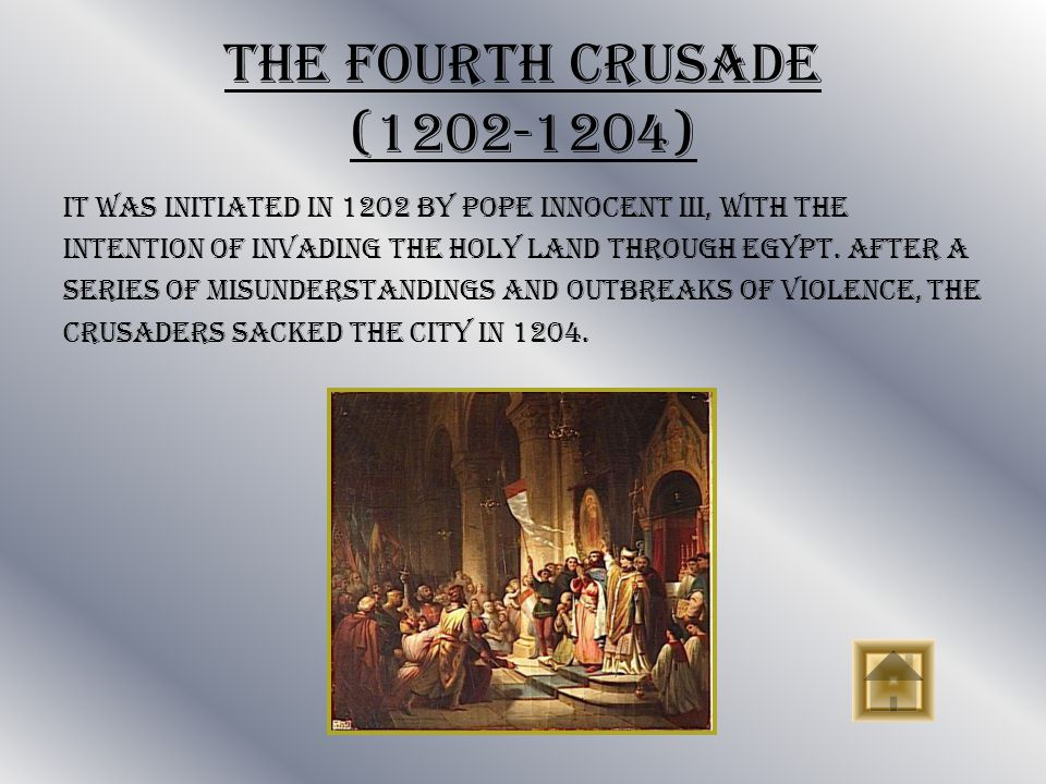 The Third Crusade (1187-1192) In 1187, Saladin, recaptured Jerusalem. Pope Gregory VIII called for a crusade, which was led by Philip II of France, Ri